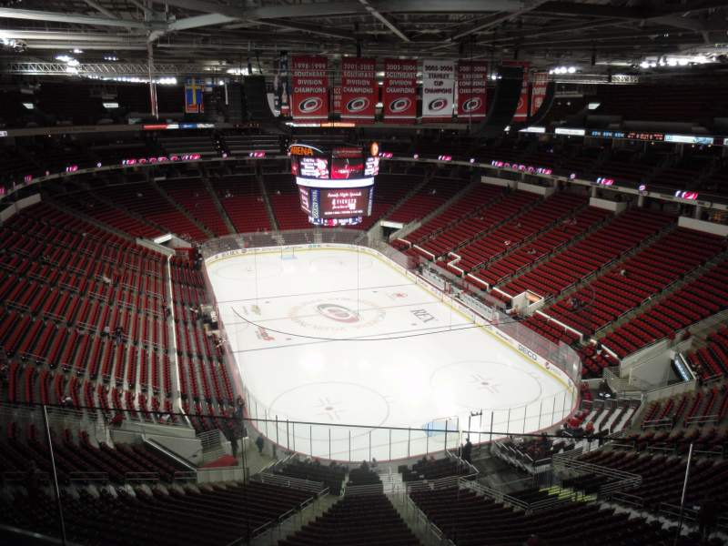 Seating view for PNC Arena Section 316 Row E Seat 5