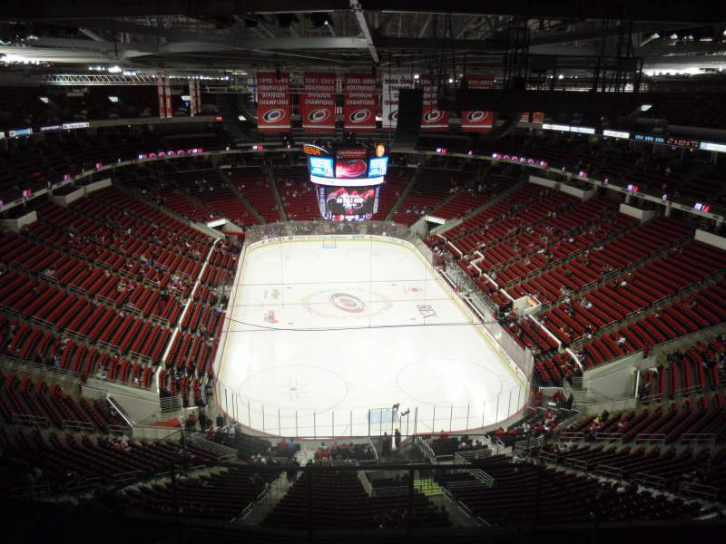 Seating view for PNC Arena Section 316 Row J Seat 1