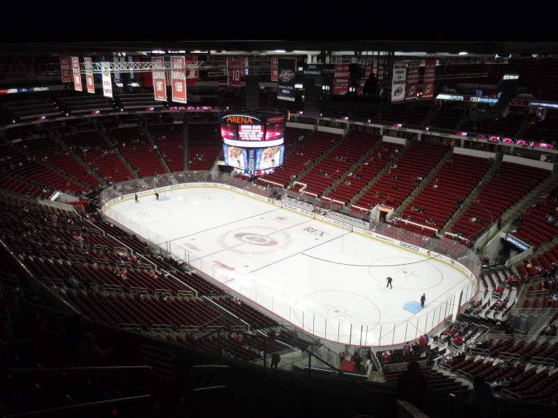 Seating view for PNC Arena Section 319 Row K Seat 11