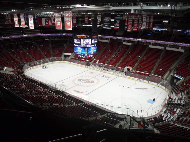 Seating view for PNC Arena Section 320 Row H Seat 14