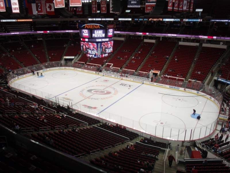Seating view for PNC Arena Section 321 Row A Seat 1