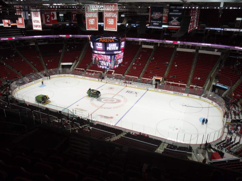 Seating view for PNC Arena Section 322 Row H Seat 7