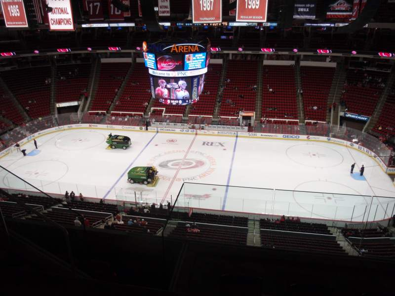 Seating view for PNC Arena Section 323 Row E Seat 19
