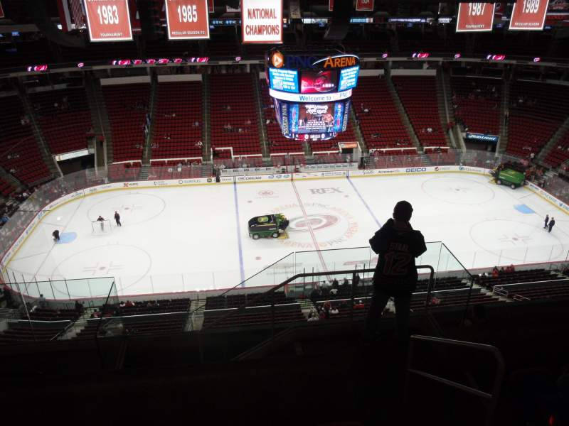 Seating view for PNC Arena Section 325 Row G Seat 1