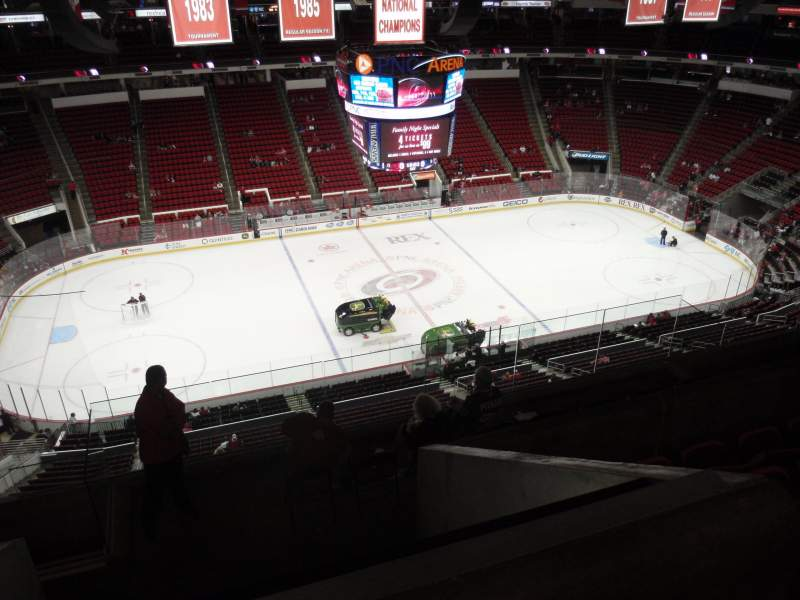 Seating view for PNC Arena Section 325 Row H Seat 18