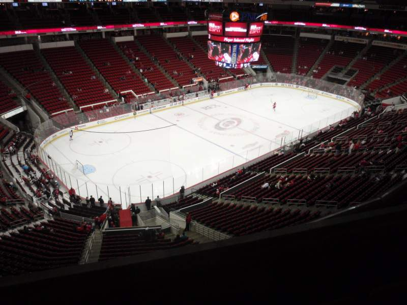 Seating view for PNC Arena Section 328 Row C Seat 10