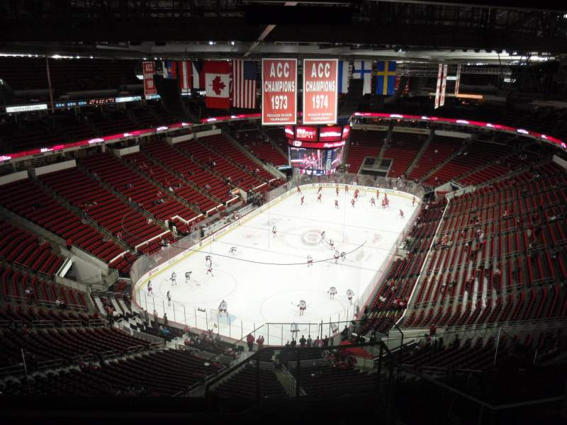 Seating view for PNC Arena Section 332 Row J Seat 1