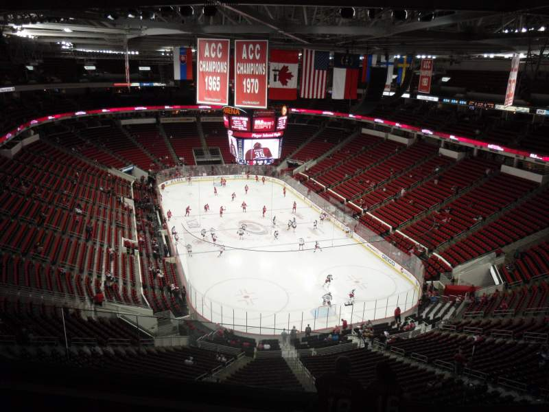 Seating view for PNC Arena Section 334 Row G Seat 21