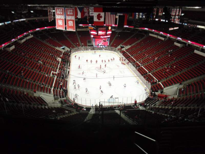 Seating view for PNC Arena Section 334 Row K Seat 1
