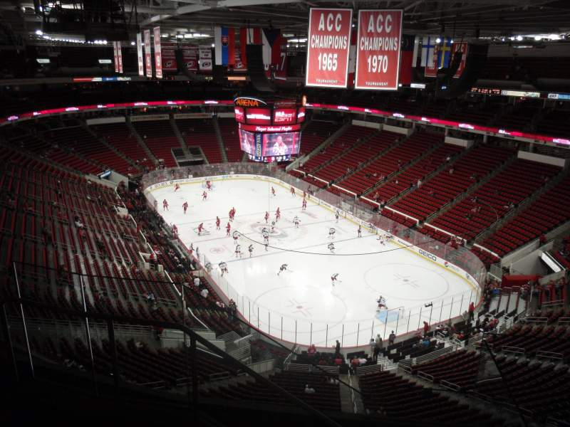 Seating view for PNC Arena Section 335 Row E Seat 12