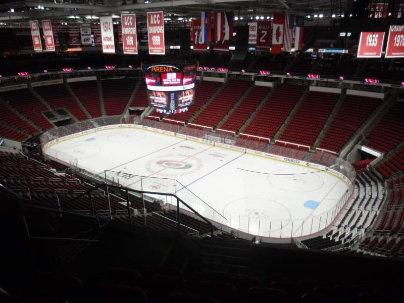 Seating view for PNC Arena Section 338 Row G Seat 10