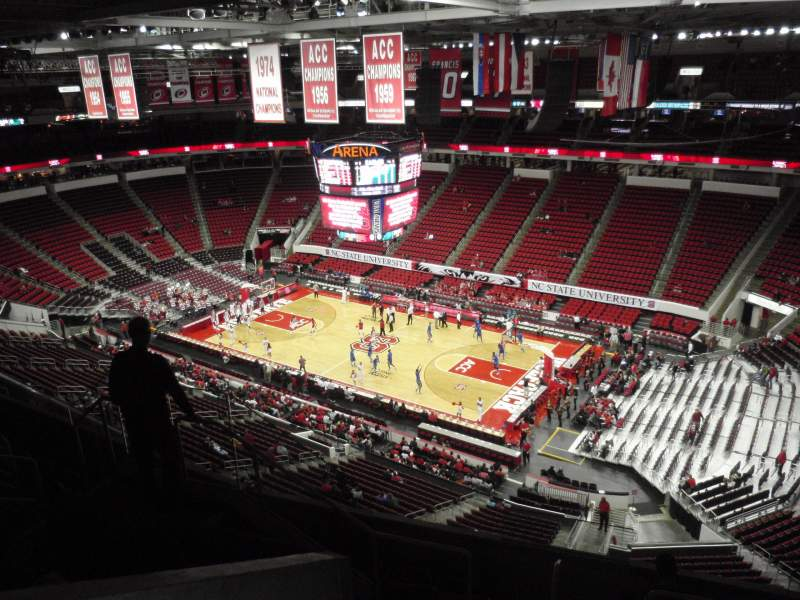 Seating view for PNC Arena Section 301 Row G Seat 7