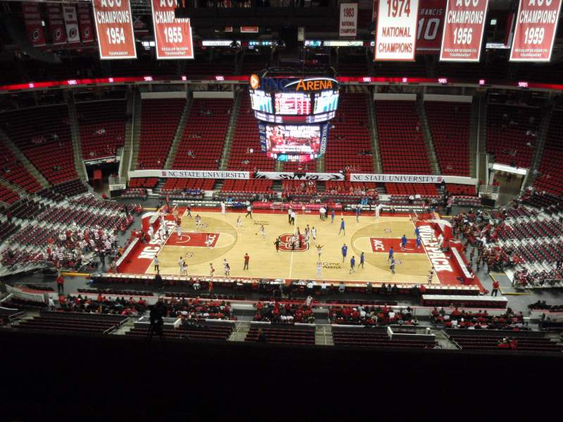 Seating view for PNC Arena Section 304 Row G Seat 9