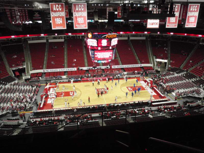 Seating view for PNC Arena Section 305 Row H Seat 2