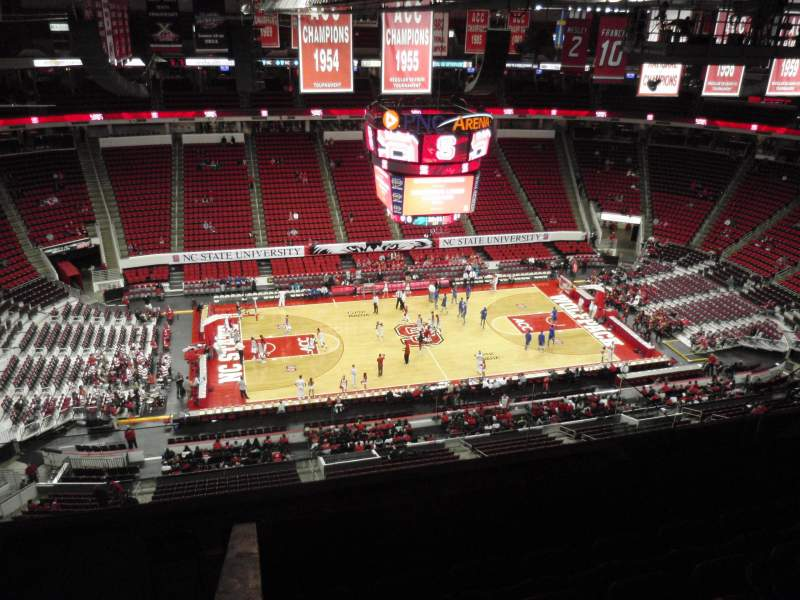 Seating view for PNC Arena Section 305 Row H Seat 15