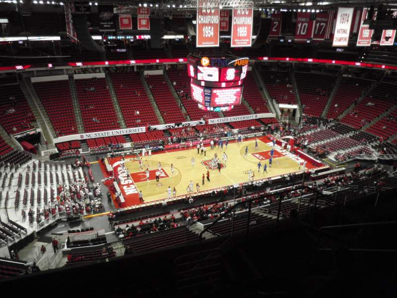 Seating view for PNC Arena Section 306 Row G Seat 6