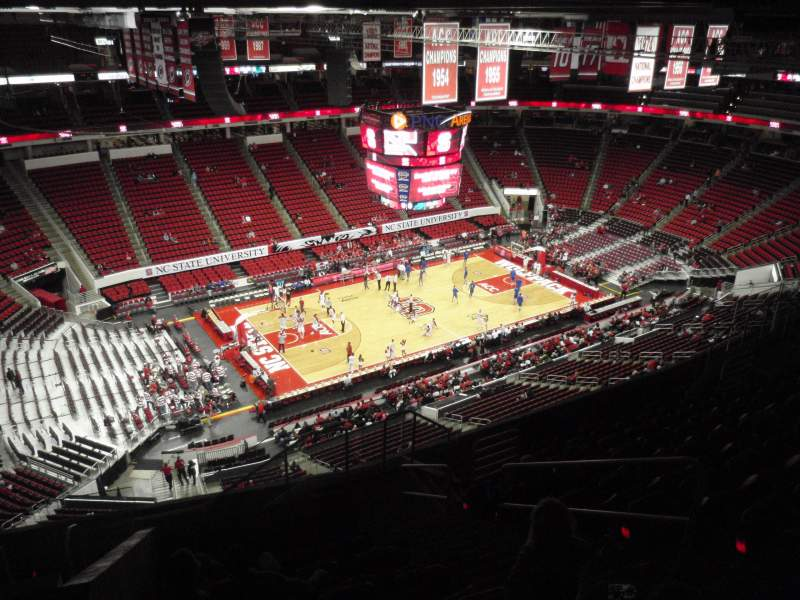 Seating view for PNC Arena Section 307 Row K Seat 4