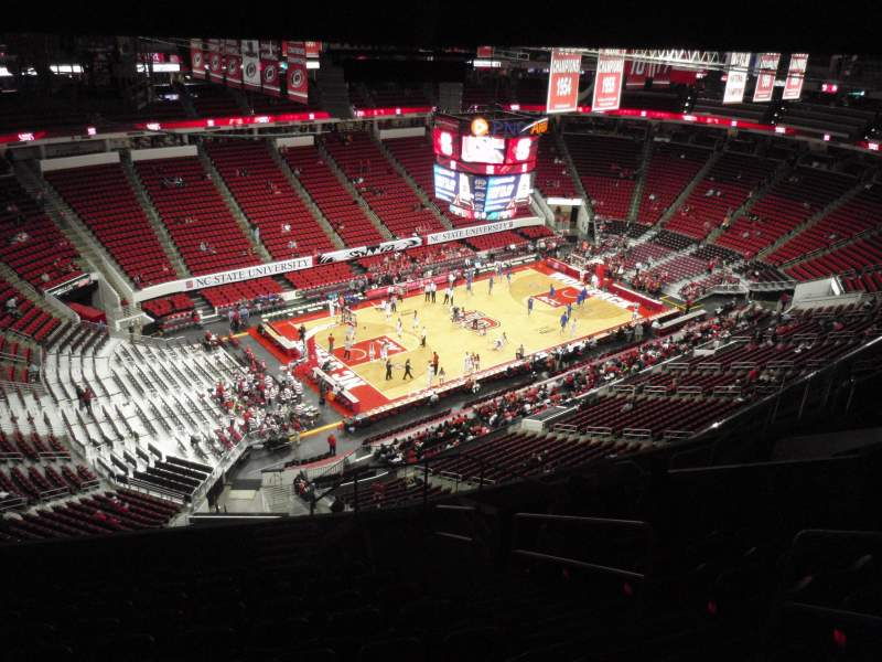 Seating view for PNC Arena Section 308 Row L Seat 4