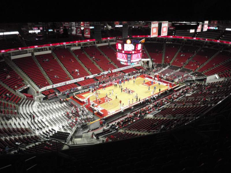 Seating view for PNC Arena Section 308 Row L Seat 14