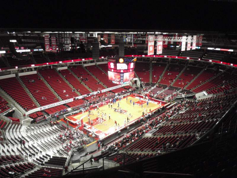 Seating view for PNC Arena Section 309 Row K Seat 3