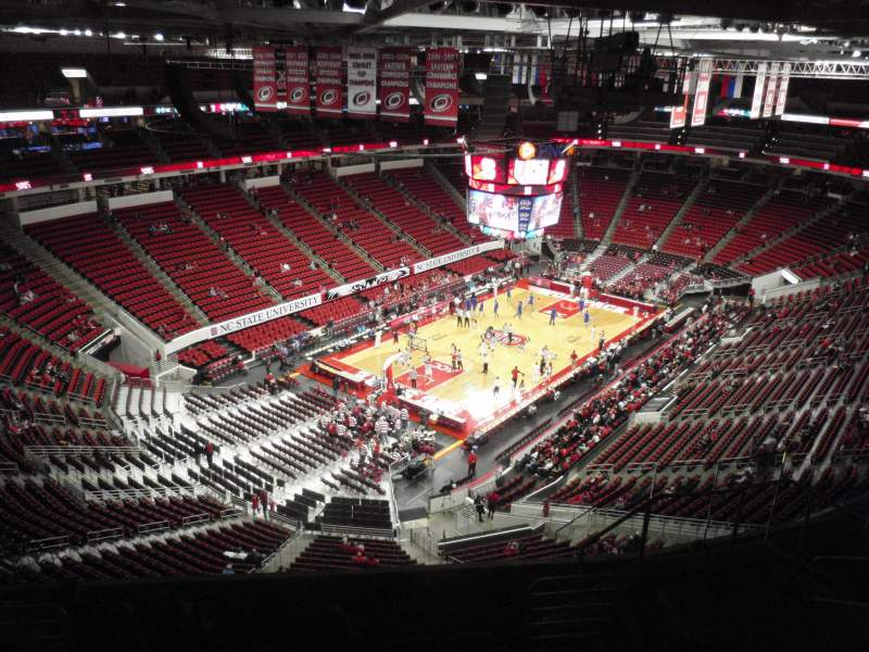 Seating view for PNC Arena Section 310 Row H Seat 11