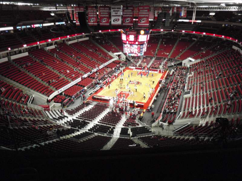 Seating view for PNC Arena Section 312 Row H Seat 10