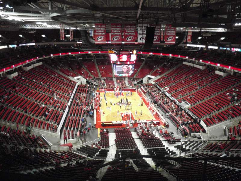 Seating view for PNC Arena Section 315 Row E Seat 4