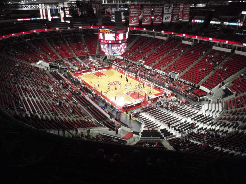 Seating view for PNC Arena Section 318 Row J Seat 6