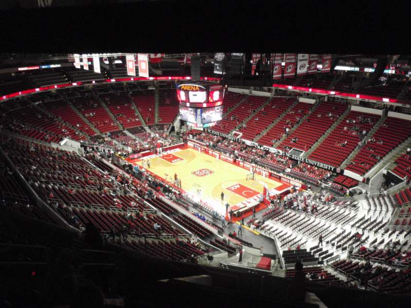 Seating view for PNC Arena Section 319 Row L Seat 7