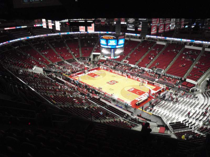 Seating view for PNC Arena Section 320 Row L Seat 6