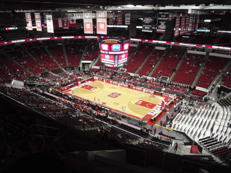 Seating view for PNC Arena Section 321 Row J Seat 7