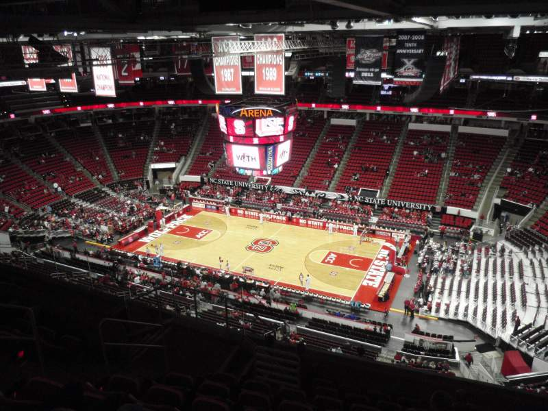 Seating view for PNC Arena Section 322 Row J Seat 10