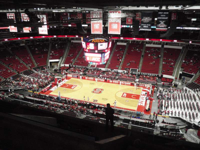Seating view for PNC Arena Section 323 Row J Seat 5