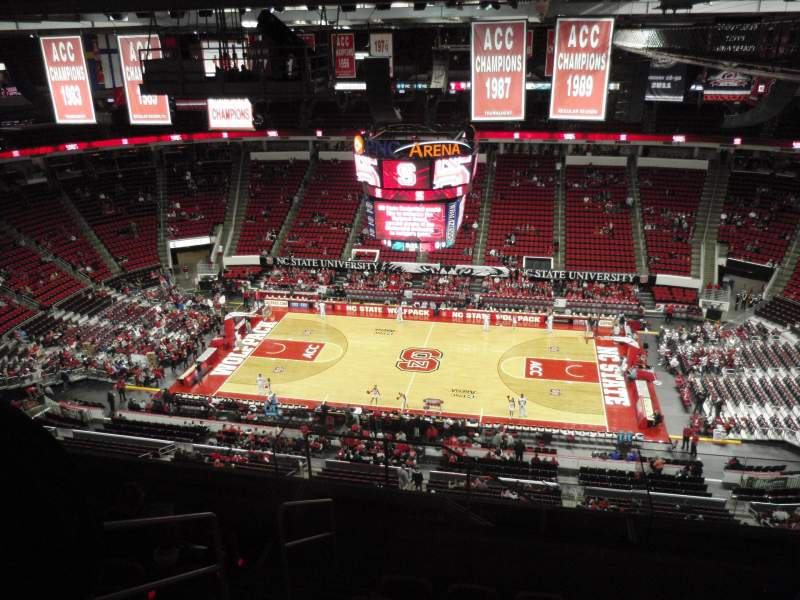 Seating view for PNC Arena Section 323 Row J Seat 26