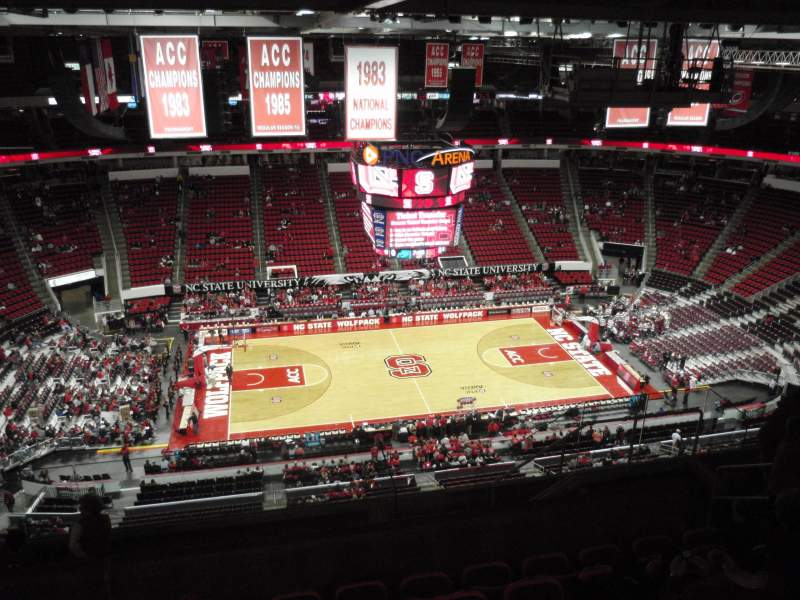 Pnc Arena Section 325 Row J Seat 9 North Carolina State Wolfpack