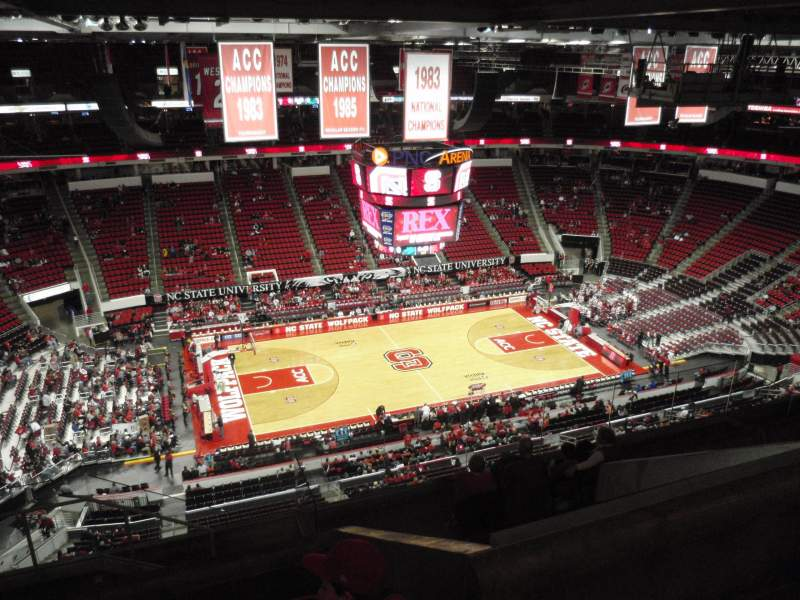 Seating view for PNC Arena Section 325 Row J Seat 24