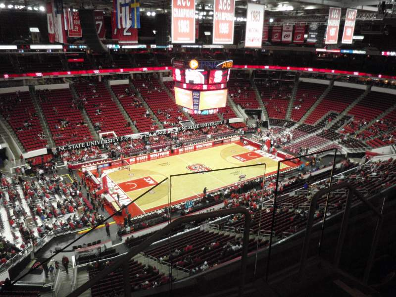 Seating view for PNC Arena Section 327 Row D Seat 2