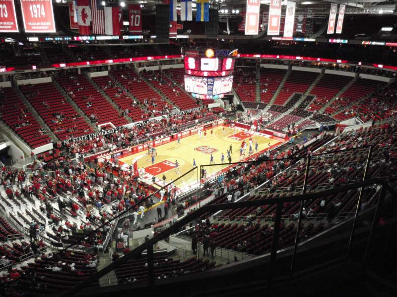 Seating view for PNC Arena Section 329 Row D Seat 2
