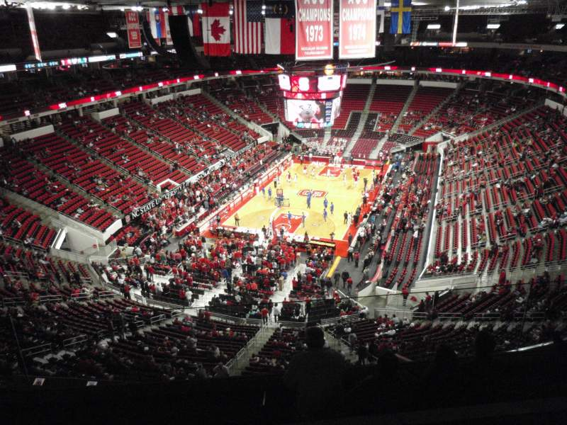 Seating view for PNC Arena Section 332 Row F Seat 9