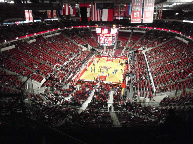 Seating view for PNC Arena Section 332 Row F Seat 27