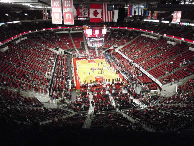 Seating view for PNC Arena Section 334 Row F Seat 5