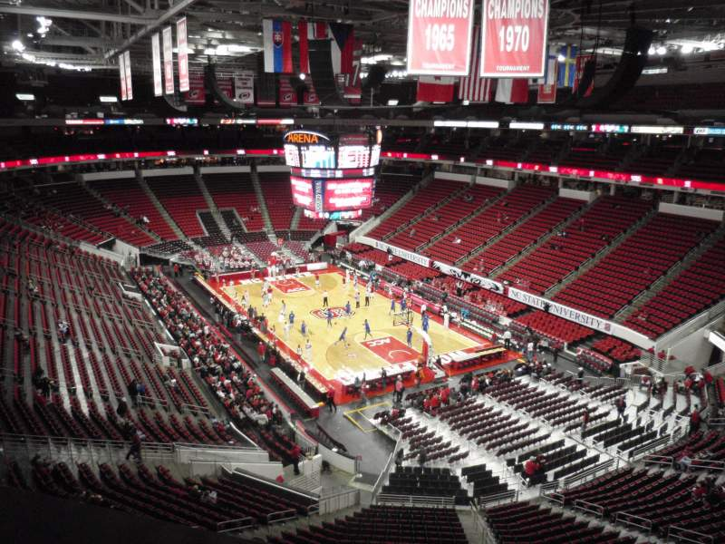 Seating view for PNC Arena Section 336 Row A Seat 5