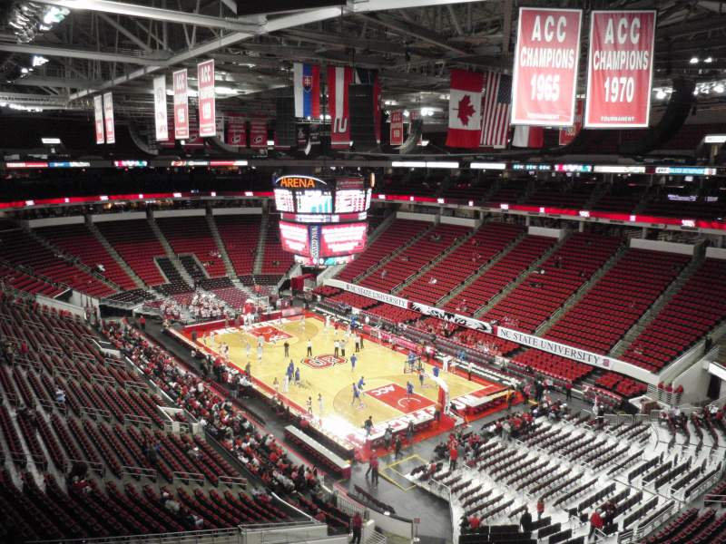 Seating view for PNC Arena Section 336 Row A Seat 19