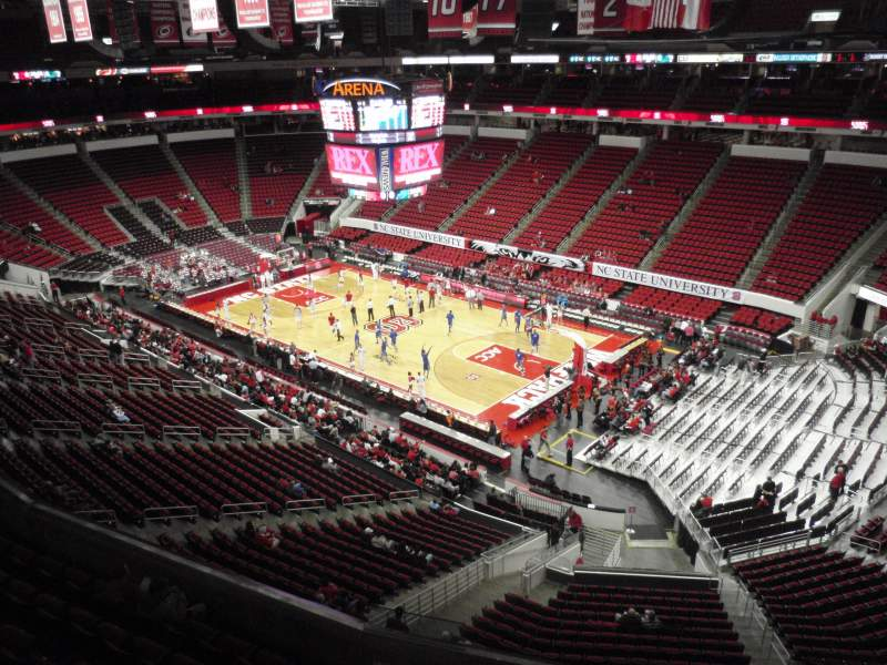 Seating view for PNC Arena Section 338 Row A Seat 14