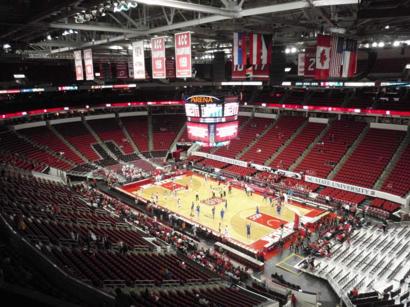 Seating view for PNC Arena Section 338 Row C Seat 5