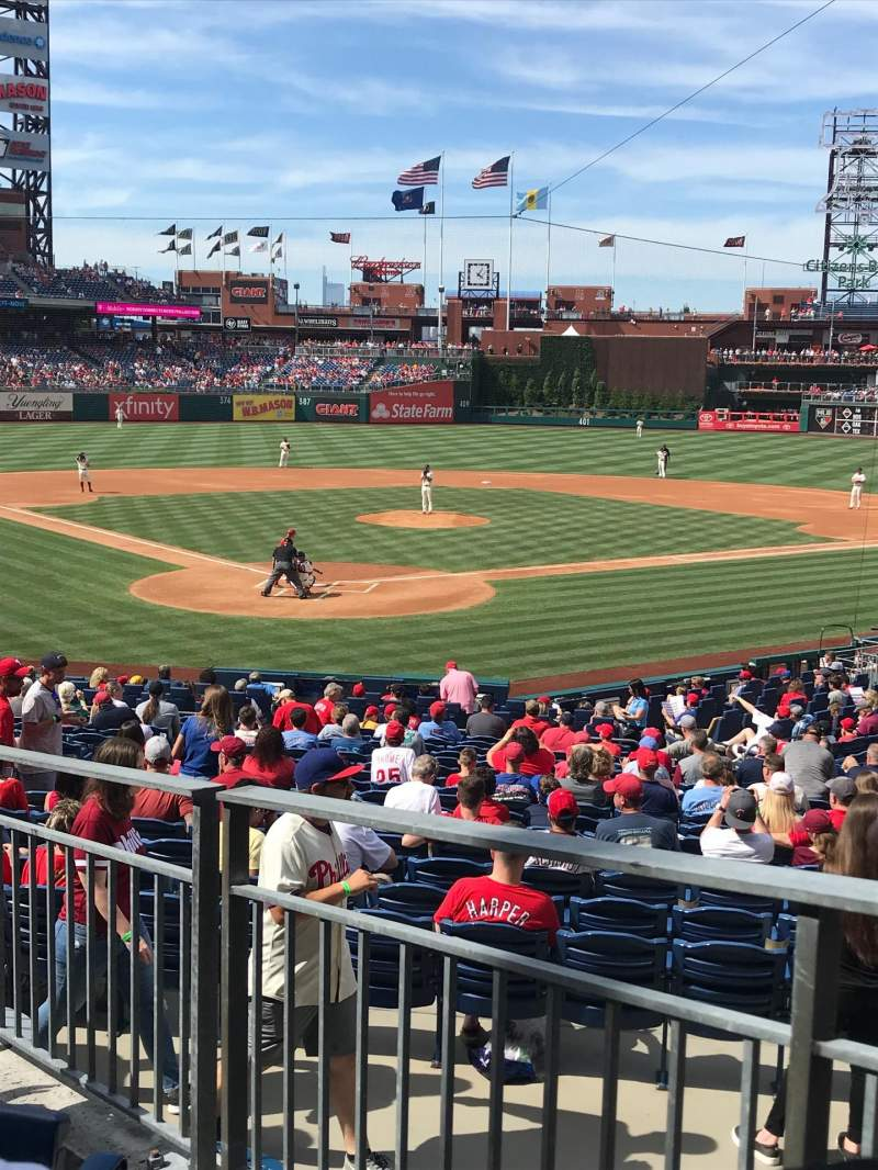 Seating view for Citizens Bank Park Section 122 Row 26 Seat 18