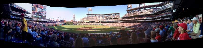 Seating view for Citizens Bank Park Section 131 Row 27 Seat 15