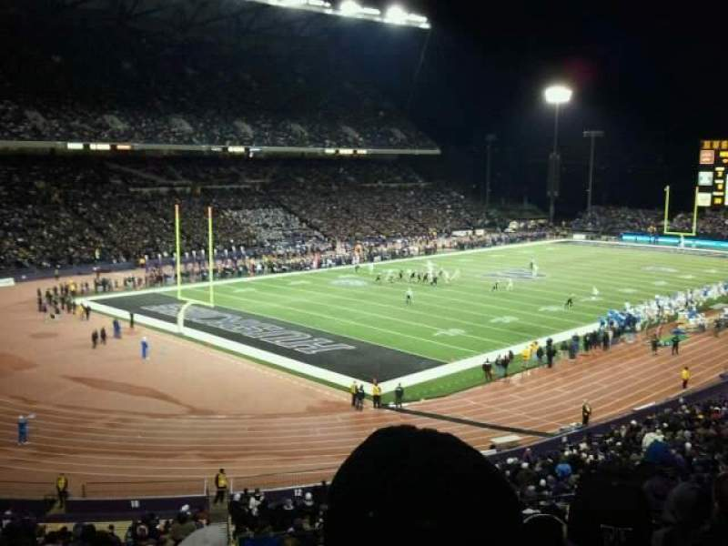 Seating view for Old Husky Stadium Section 12 Row rr Seat 15