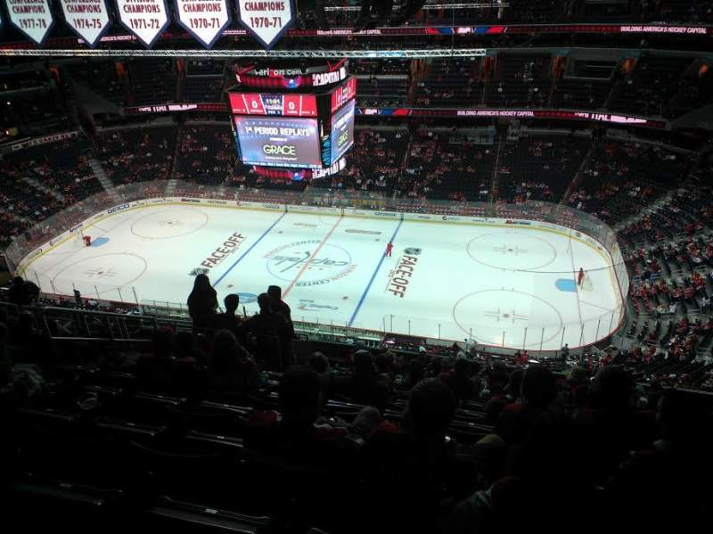 Seating view for Verizon Center Section 402 Row P Seat 8