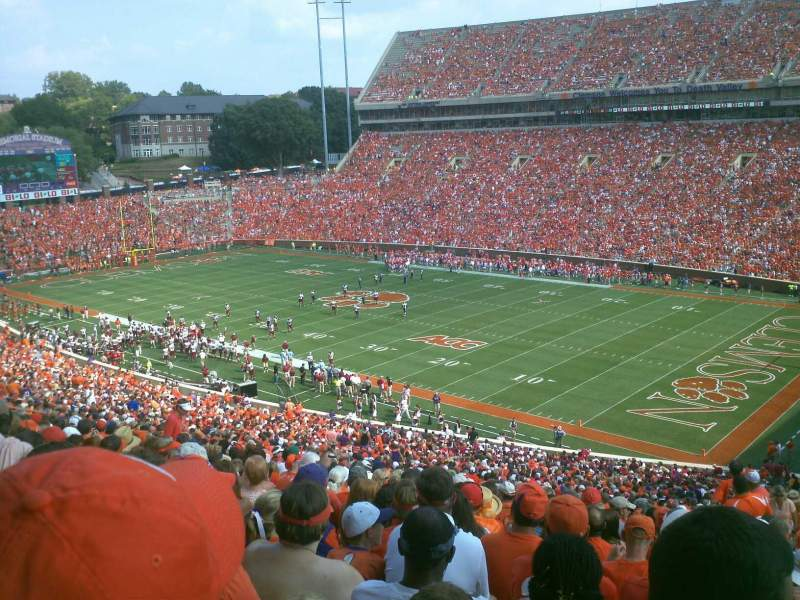 Seating view for Memorial Stadium, Clemson Section UT Row V Seat 1